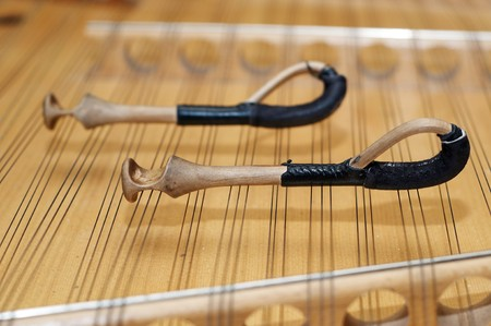 hammered: Diatonic hammered dulcimer stringed musical instrument