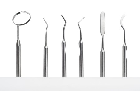 Set of metal medical equipment tools for teeth dental care Stock Photo - 7394104