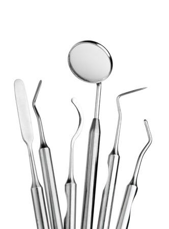 odontologia: Conjunto de herramientas de metal de equipos m�dicos para la atenci�n dental de dientes