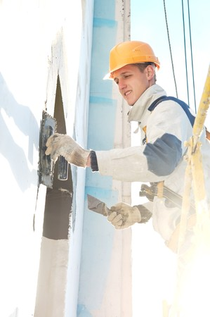 steeplejack: facade thermal insulation works with stopping and surfacer