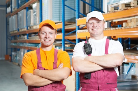 manual workers crew in warehouse Stock Photo - 9919916