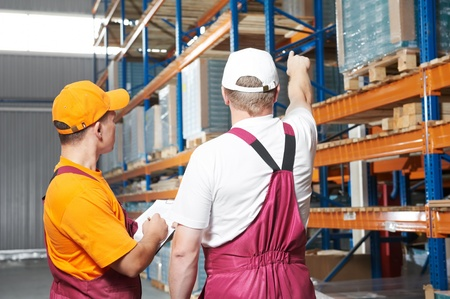 manual workers in warehouse Stock Photo - 9920675