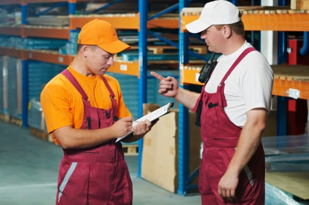 manual workers in warehouse Stock Photo - 9920668