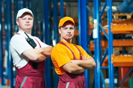 young manual workers in warehouse Stock Photo - 9920669