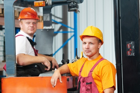 warehouse workers in storehouse Stock Photo - 9920667