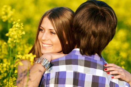 happy young couple Stock Photo - 9920647