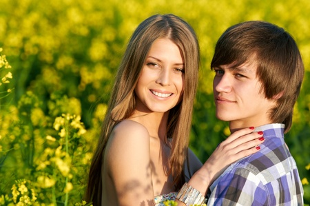happy young couple Stock Photo - 9920646