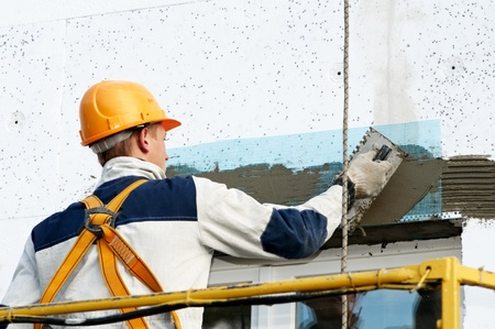 facade stopping and surfacer works photo