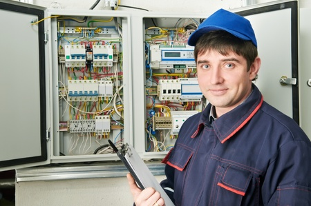 Electrician at work photo