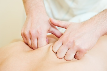 manual medical massage technique Stock Photo - 9920632