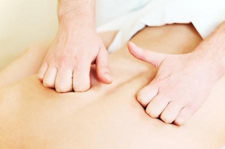 manual medical massage technique photo