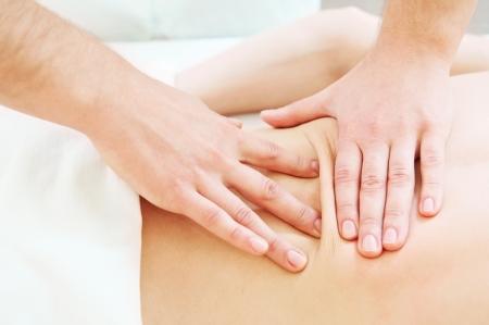manual work: manual medical massage technique
