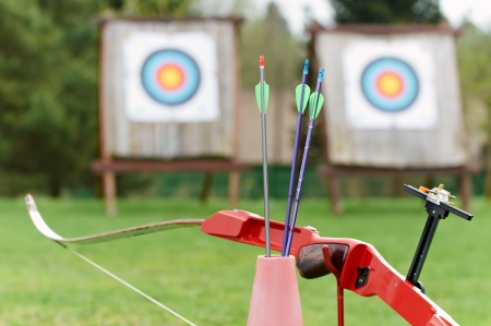 Archery equipment - bow arrows target photo