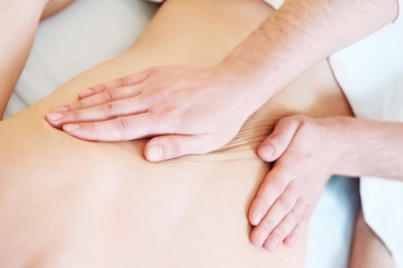 therapist: manual medical massage technique