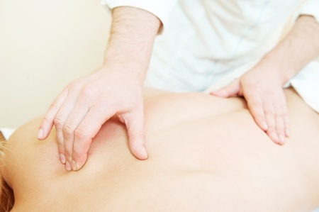 pressure massage: manual medical massage technique