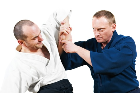 grapple: Sparring of two jujitsu fighters