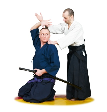 jujitsu: Sparring of two jujitsu fighters