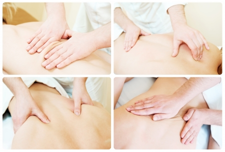 masaje: composici�n t�cnica de masaje Foto de archivo