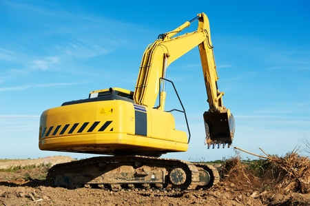 excavator loader at work photo