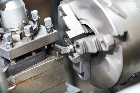 lathe: metal blank machining process