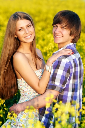 happy young couple Stock Photo - 10378435