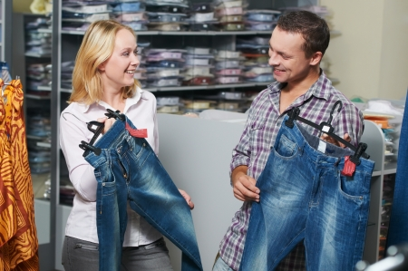 Young couple at clothes shopping Stock Photo - 10395139