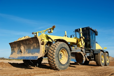 road grader bulldozer Stock Photo - 10466298