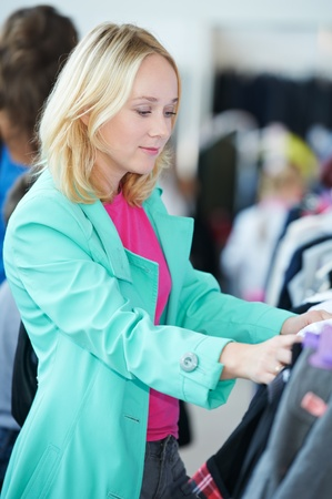 Young woman at shop Stock Photo - 10466285