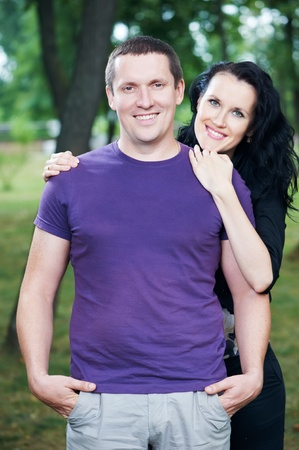 Man and girlfriend on a date Stock Photo - 10521417