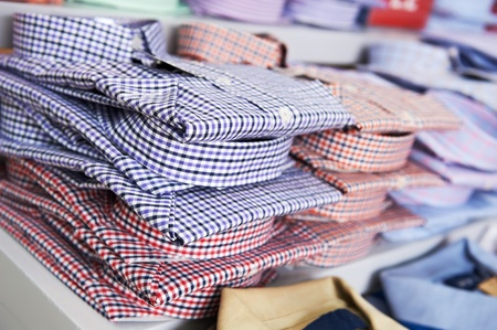 wholesale: shirts in a shop