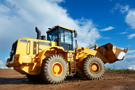 wheel loader: construction loader excavator Stock Photo