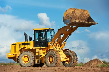 mining: construction loader excavator Stock Photo