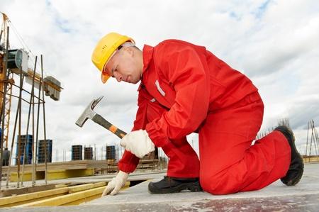 builder making construction works
