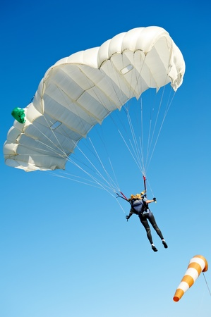 Parachute jumper photo
