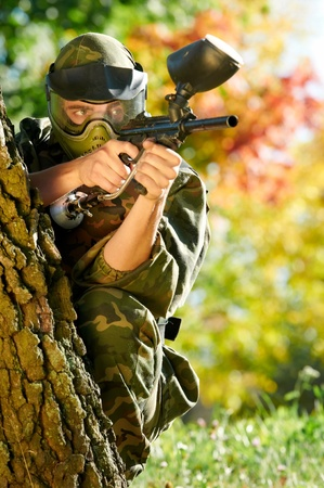 paintball player Stock Photo - 10668913