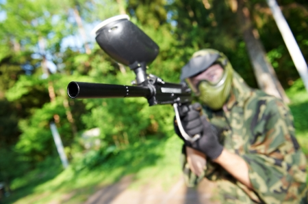 paintball player Stock Photo - 10698152