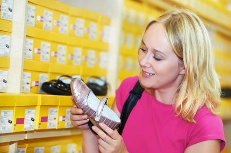 Young woman at shop Stock Photo - 10697978