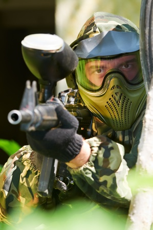 paintball player Stock Photo - 10698023