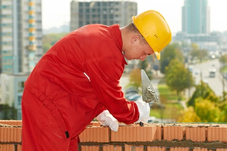 construction mason worker bricklayer Stock Photo - 10698177