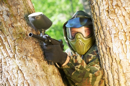 paintball player Stock Photo - 10698051
