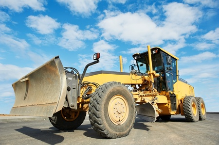 road grader bulldozer photo