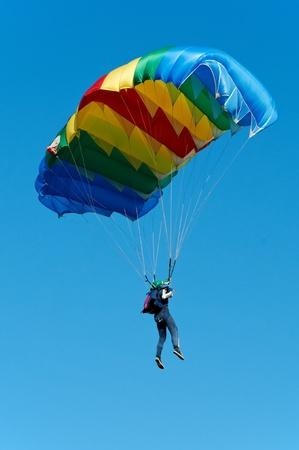 Parachute jumper photo