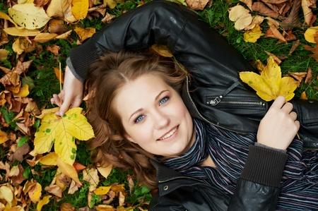 Woman at autumn outdoors Stock Photo - 10815991