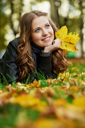Woman at autumn outdoors Stock Photo - 10815976