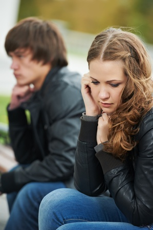 emotional stress: relationship difficulties of young people couple