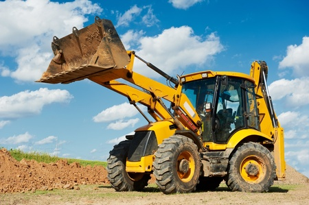 excavator: Excavator Loader with backhoe works