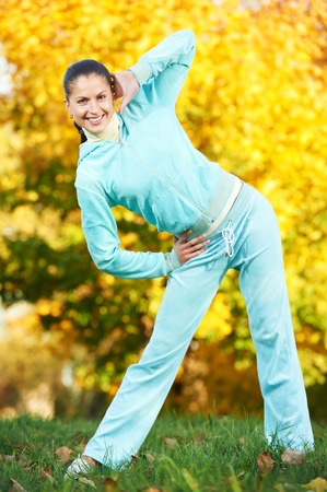 Sporting exercise. Jogging woman Stock Photo