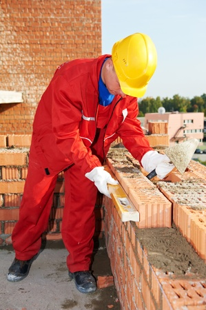construction mason worker bricklayer photo