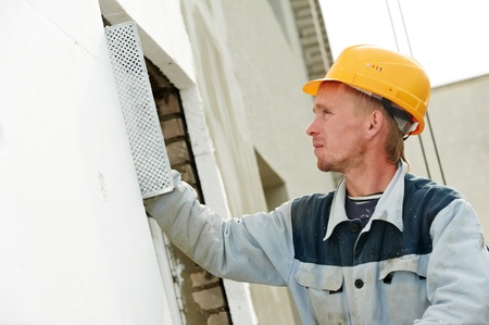 steeplejack: builder facade plasterer worker Stock Photo