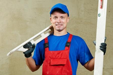 palette knife: Plasterer at work